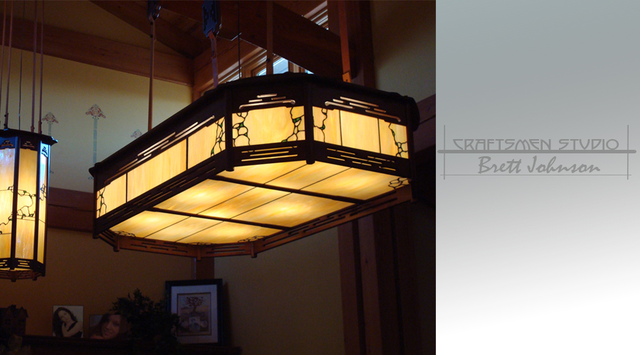 Greene and Greene Lighting | Hand Made Arts and Crafts Light Fixture