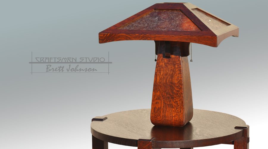 Arts and Crafts Style Table lamp | Hand Crafted Craftsman Lamp