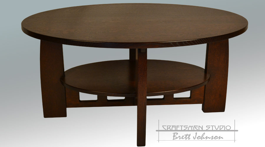 Arts and Crafts Furniture | Oval Coffee Table Inspired By Limbert Furniture Company
