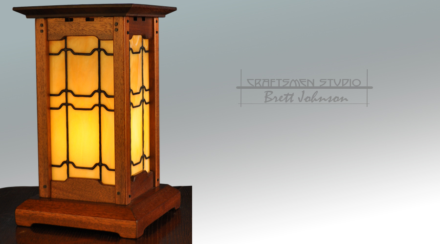Arts and Crafts Table Lamp | Hand Crafted Craftsman Style Lamp