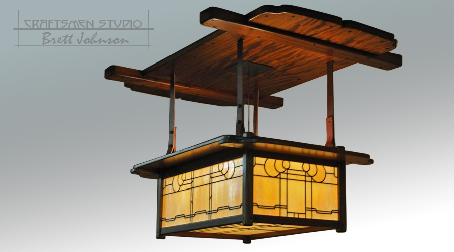 Greene and Greene Lighting | Craftsman Bungalow Arts and Crafts Dining Chandelier Light Fixture.