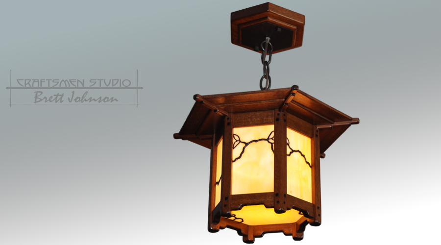 Greene and Greene Style Lantern Pendant | Arts and Crafts Lighting