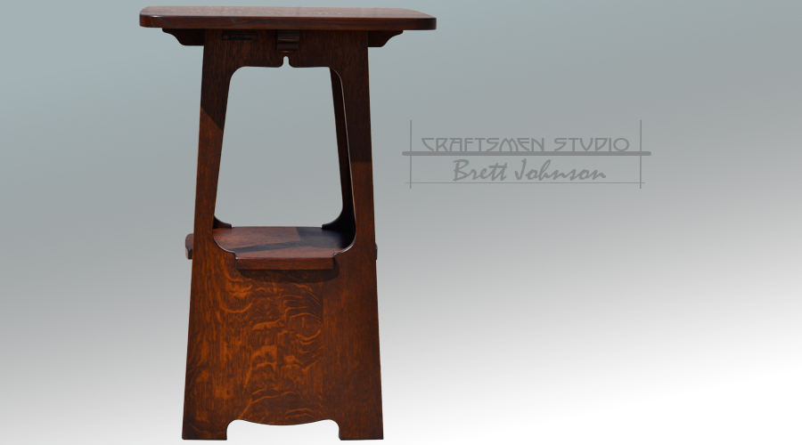 Charles Limbert Arts and Crafts Reproduction Tabouret | Arts and Crafts Occasional Table
