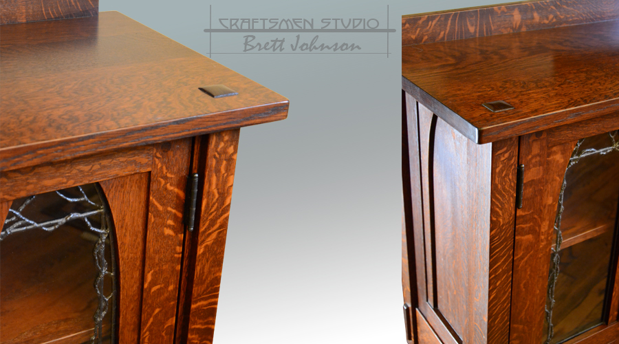 Hand Crafted Craftsman Style Media Cabinet