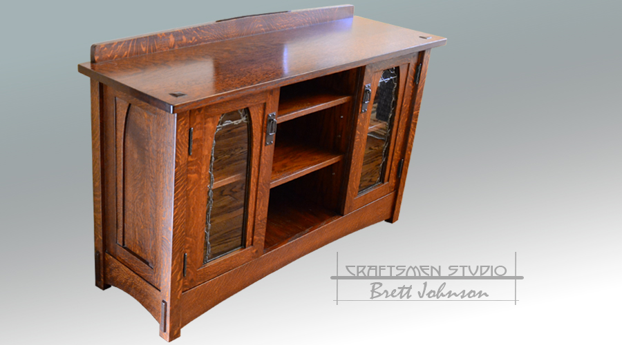 Arts and Crafts Tv Cabinet | Craftsman Style Hand Crafted Media Cabinet