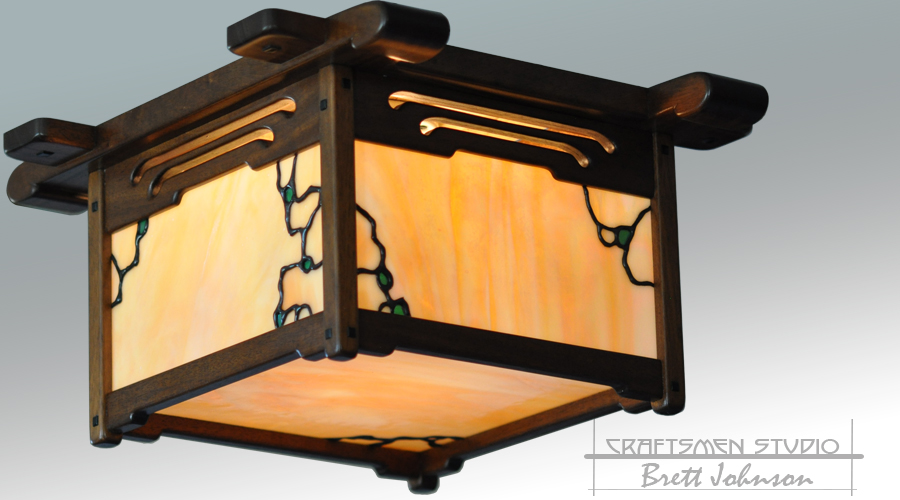 Greene and Greene Lighting Pratt House Fixture | Arts and Crafts Ceiling Light Fixture