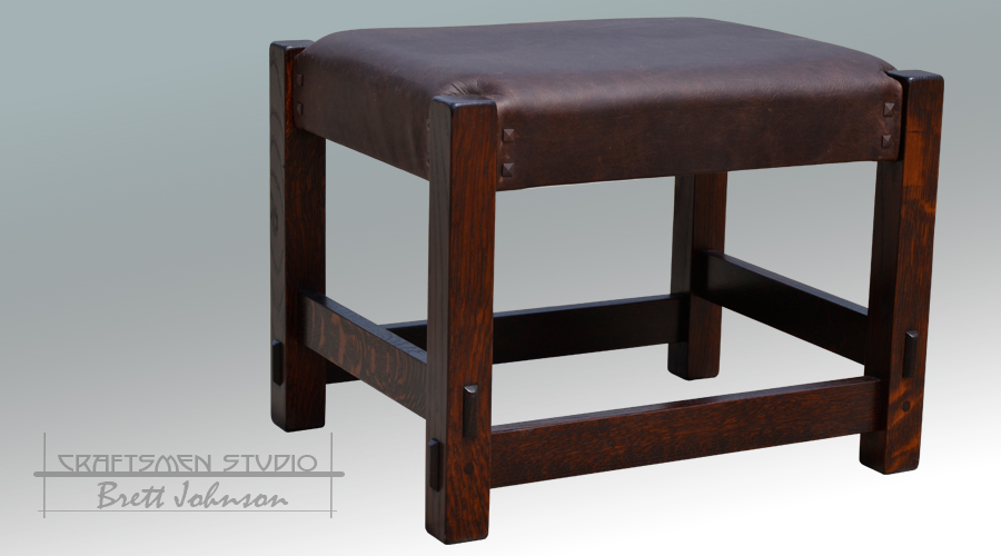 Arts and Crafts Morris Chair ottoman | Craftsman Ottoman