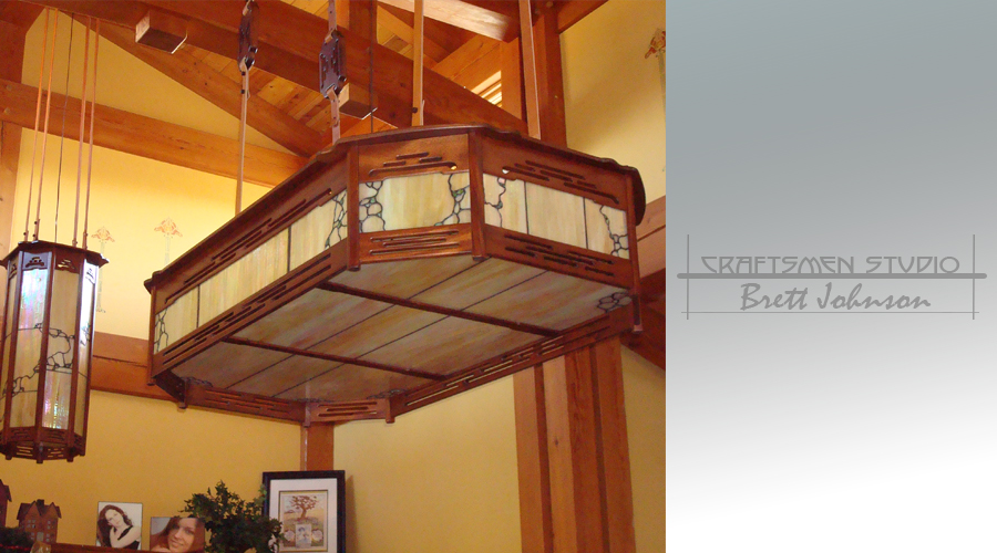 Greene and Greene Lighting | Hand Crafted Wood and Leaded Glass Arts and Crafts Lighting