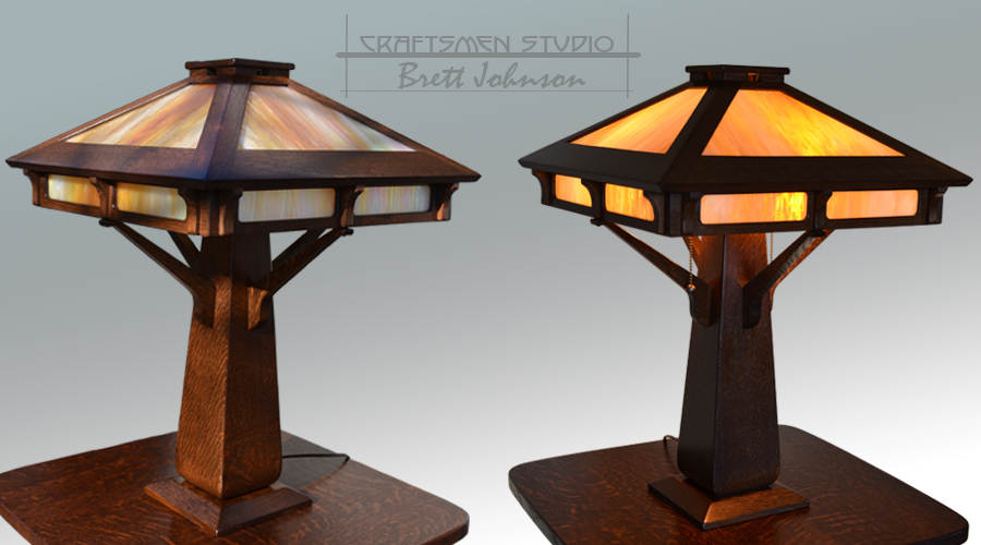 Peterson Furniture Inspired Table Lamp | Arts and Crafts lamp