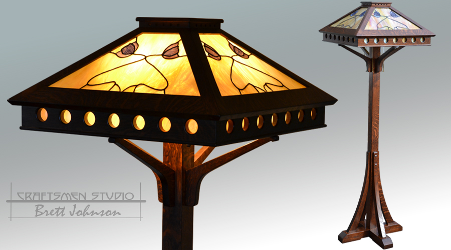 Hand Crafted Arts and Crafts Style Floor Lamp