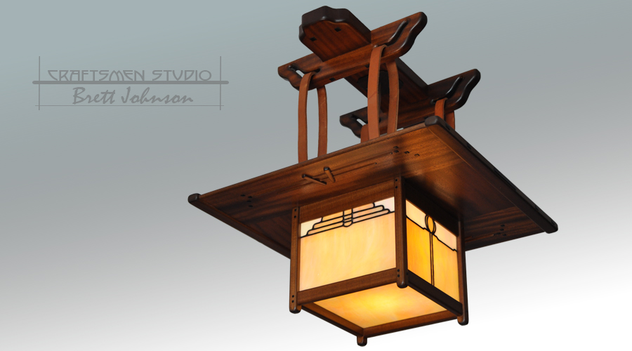 Greene and Greene Lighting | Blacker House Chandelier | Craftsman Bungalow hand crafted lighting.