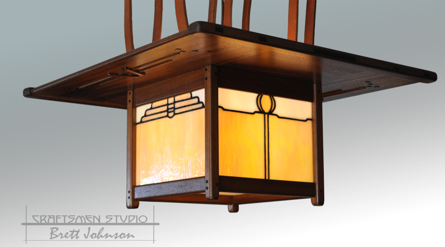 Greene and Greene Lighting | Craftsman style hanging light fixture
