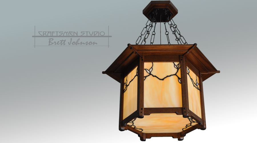 Greene and Greene Lighting | Culbertson House Arts and Crafts Chandelier
