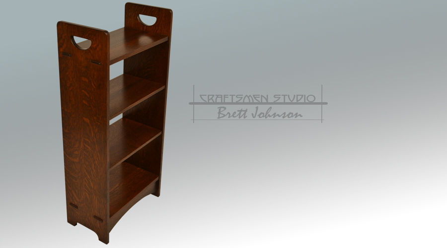 Hand Crafted Reproduction D Handle Stickley Book Shelf | Arts and Crafts Furniture